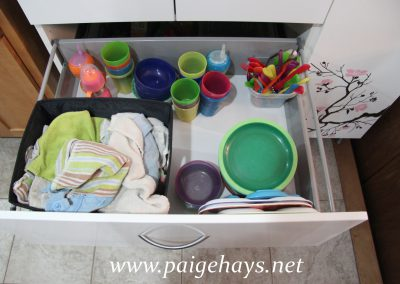 kitchen drawer for kids storage