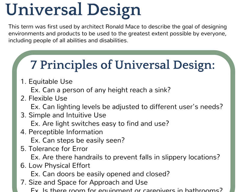 Universal Design Compared to Home Modifications