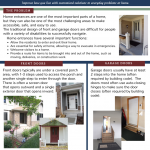 First page preview of the 5 page pdf with more ideas and recommendations specific to creating home entrances that are easy for everyone to use.  Content includes ideas for general design of entrances both inside and outside, ideas for ramps/steps/stairs, lightening techniques, and common barriers to remove or avoid.  Ideas are useful for people with mobility, visual, and cognitive impairments, as well as parents of young children and and older adults.  Paid access to file will provide a pdf file that can we fully accessed with a visual reader tool if needed.