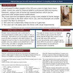 thumbnail of full handout on home modifications for use of cane,